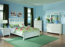 Sanibel White 5pc Queen Bedroom Set Available Online in Dallas Texas