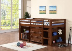 Harvest Glaze Twin Loft Bed Available Online in Dallas Texas