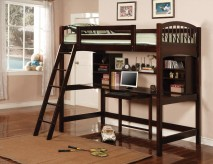 Fisk Workstation Bunk Bed (Cappuccino)