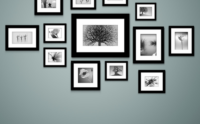 Easy DIY Wall Art Ideas Dallas Furniture Store Blog : blog194bigstock Photo frames on wall Vector v 45685477 825x510 from furniturenation.com size 825 x 510 jpeg 56kB