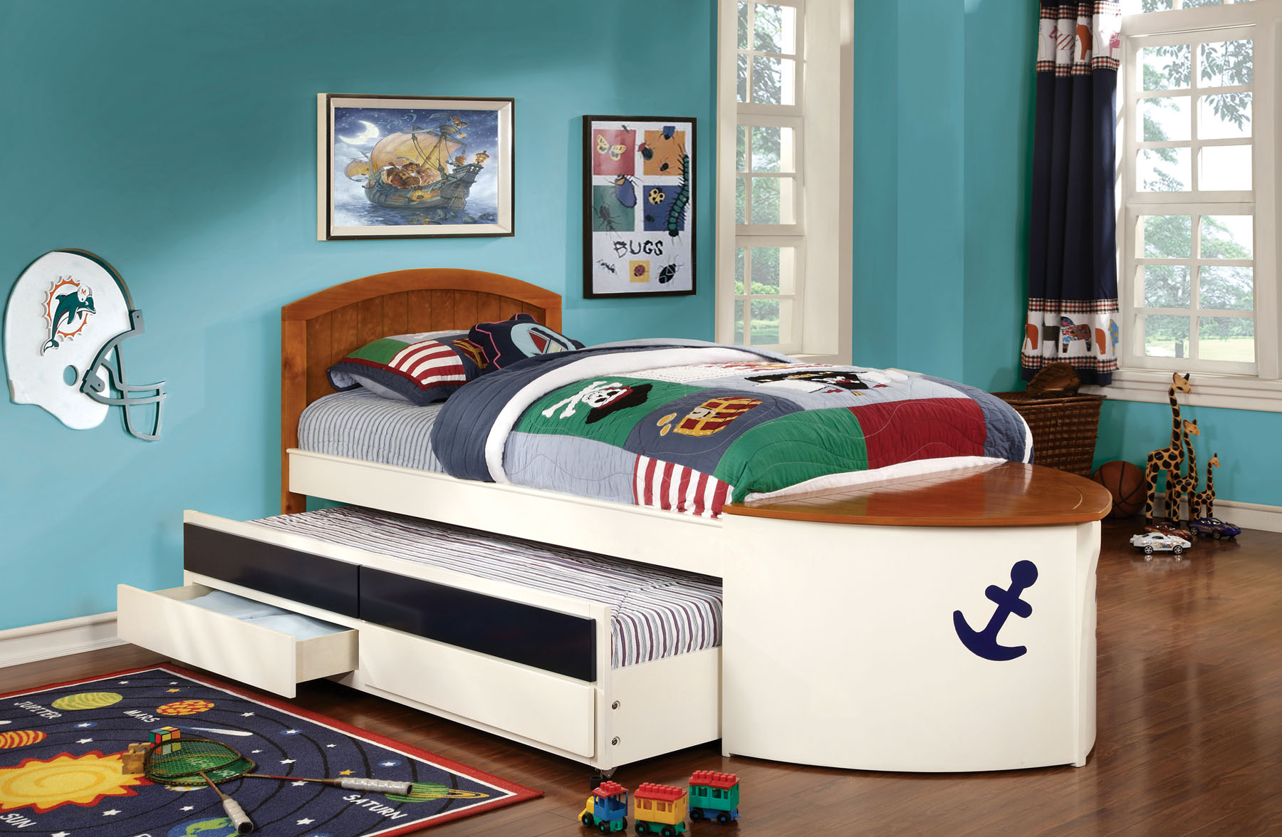 captains bed with trundle
