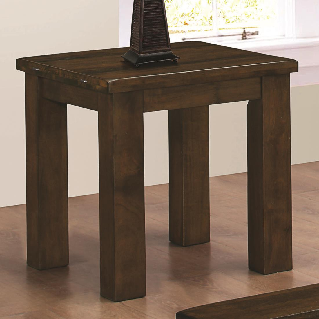 Sambal Rustic Pecan End Table Dallas Tx Occasional Tables Furniture Nation