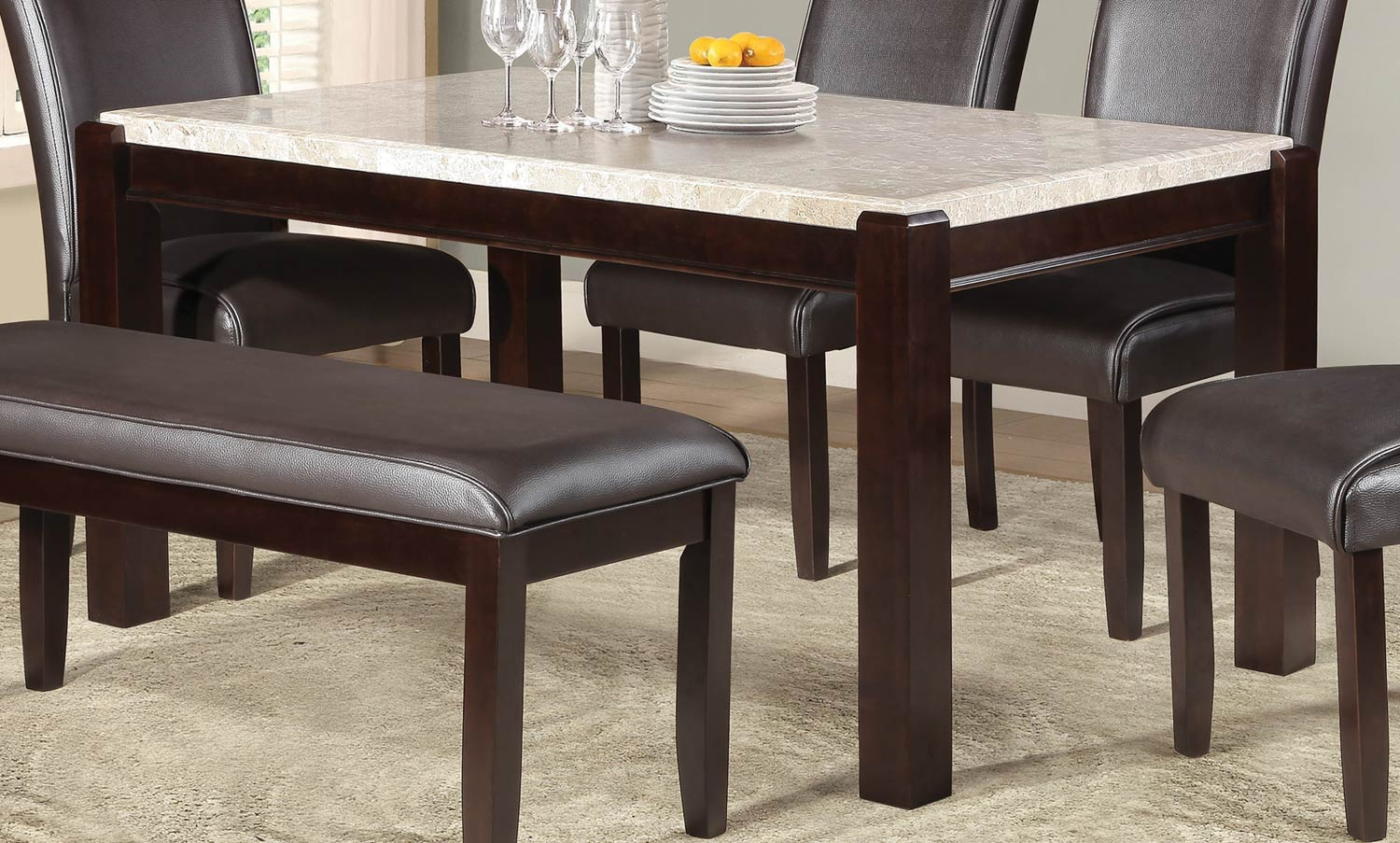 Homelegance Festus Dark Cherry Dining Table