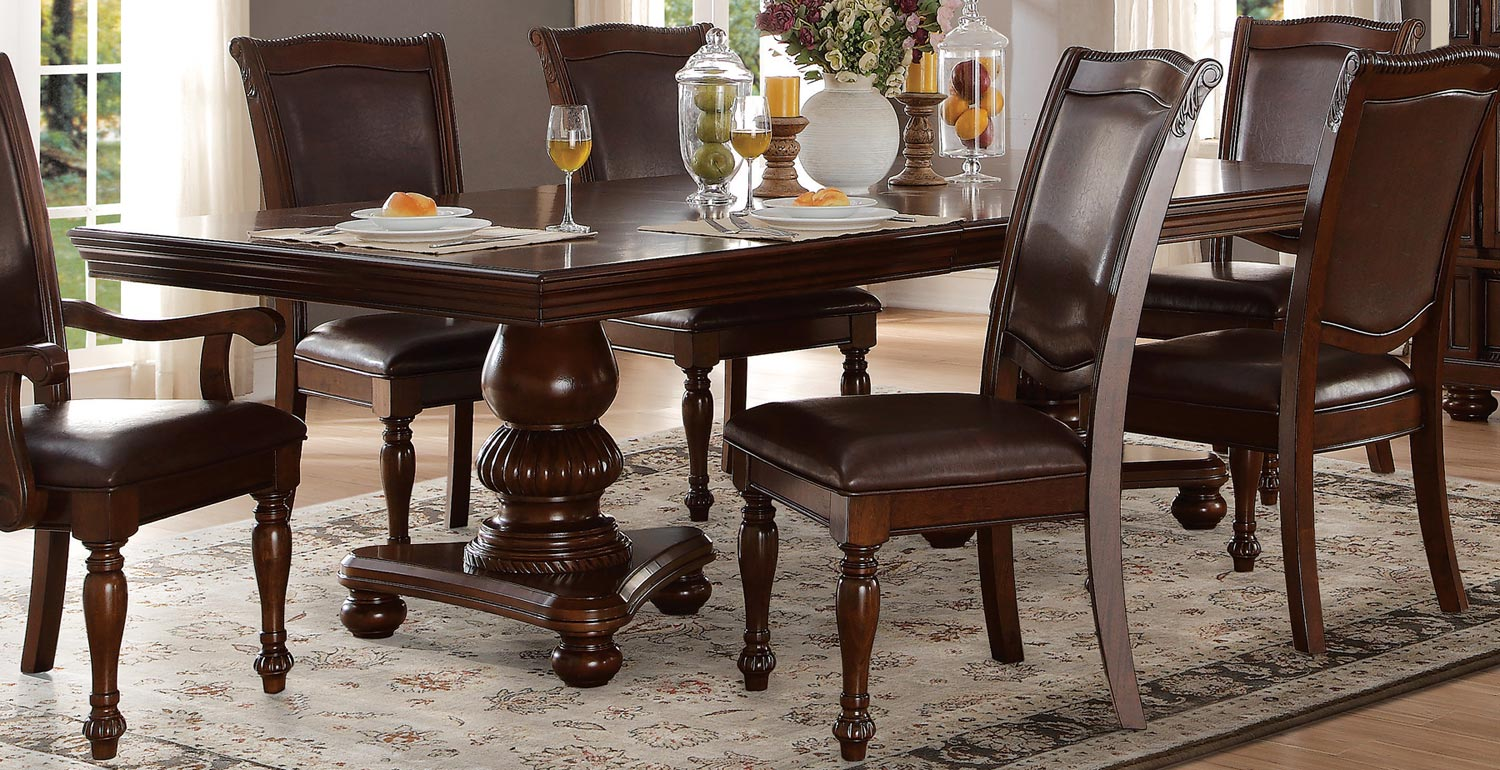 Homelegance Lordsburg Brown Cherry Dining Table