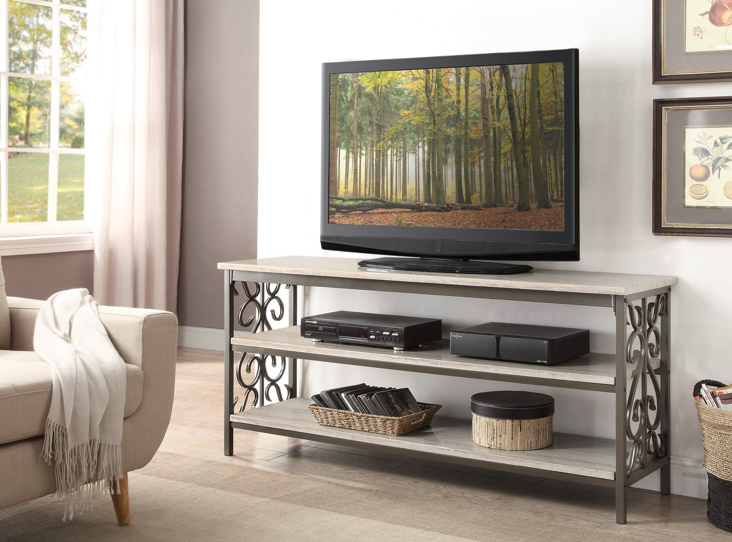 Homelegance Fairhope Sofa Table With Tv Stand