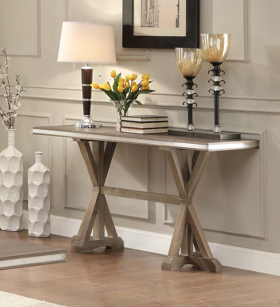 Excellent Homelegance Beaugrand Light Brown Sofa Table Gmtry Best Dining Table And Chair Ideas Images Gmtryco