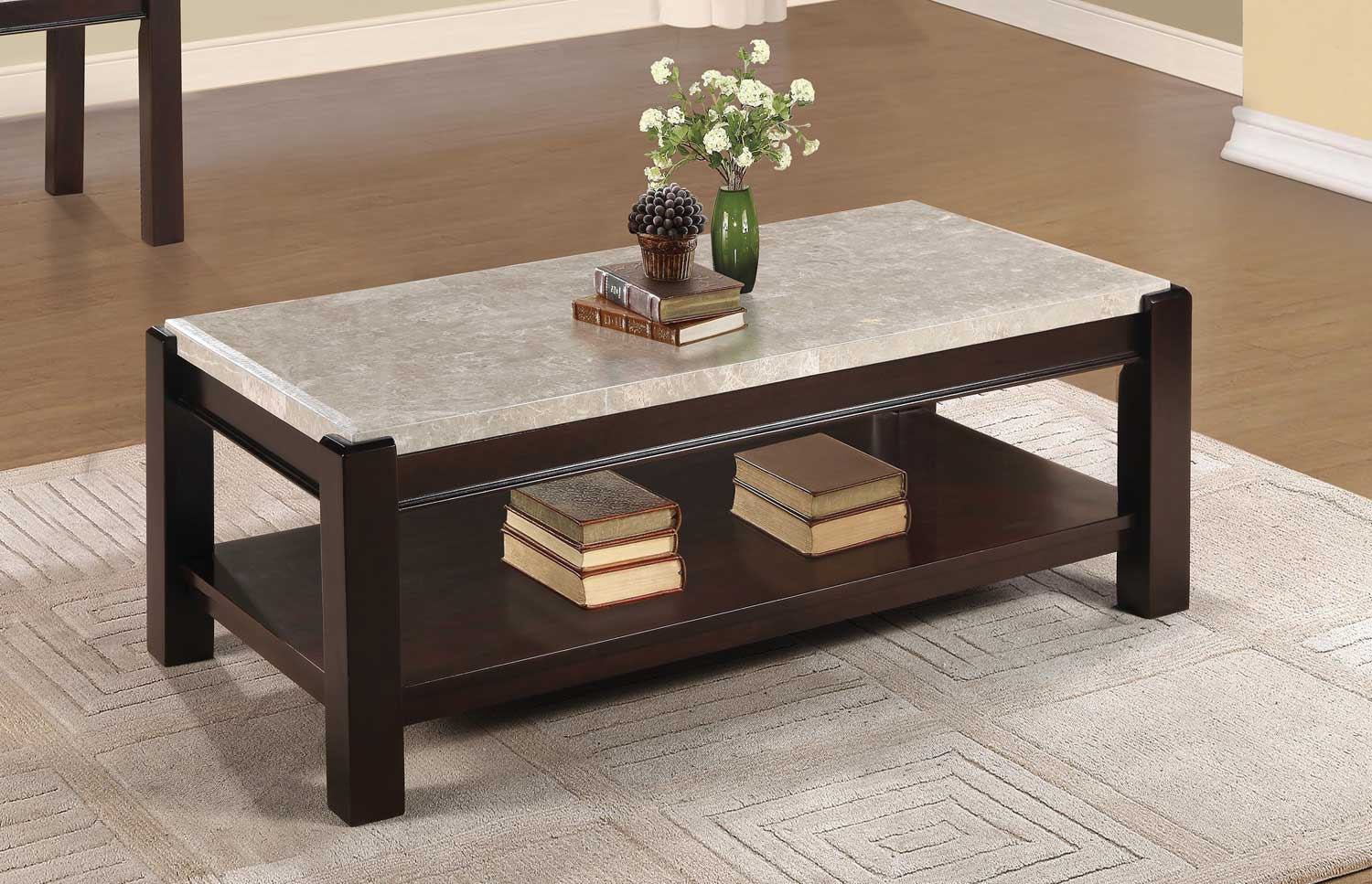Exceptionnel Homelegance Festus Dark Cherry Coffee Table