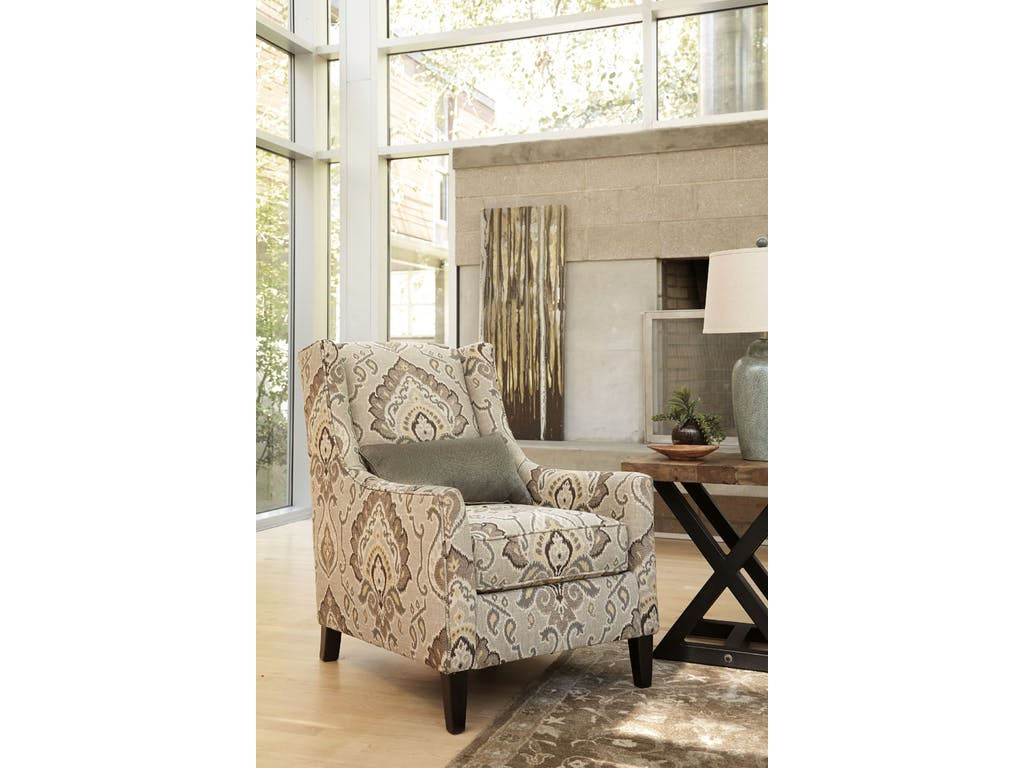 ashley wilcot linen accent chair dallas tx living room