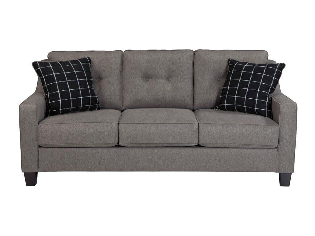 Ashley brindon charcoal sofa dallas tx living room sofa for Charcoal sofa living room