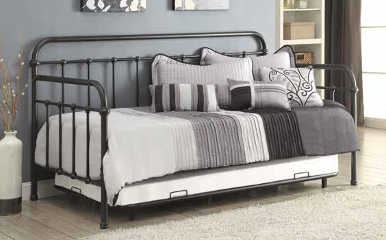 Coaster Jasper Black Daybed With Trundle