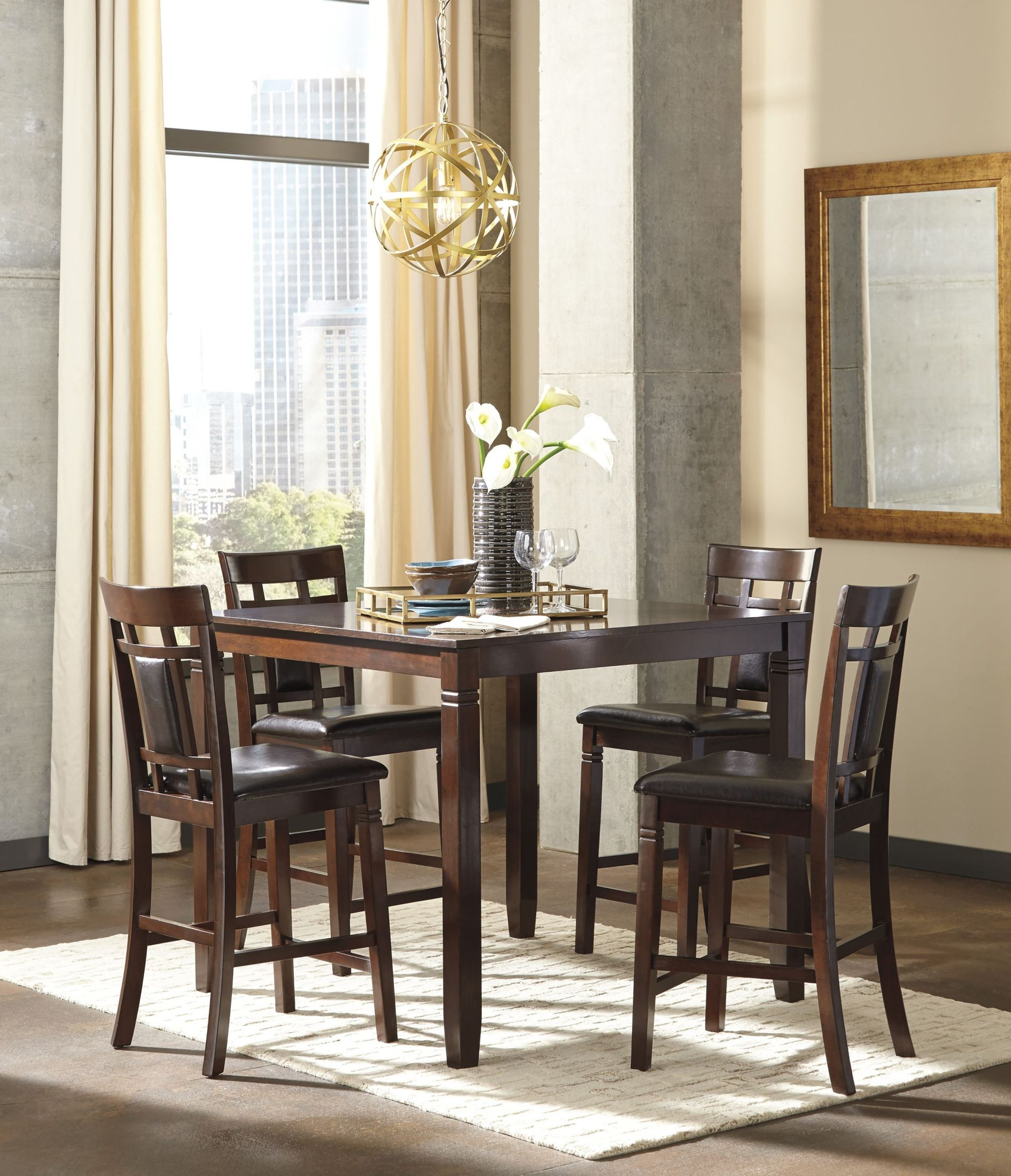 Dining Room Sets Dallas Tx: Ashley Bennox 5pc Counter Height Dining Set Dallas TX