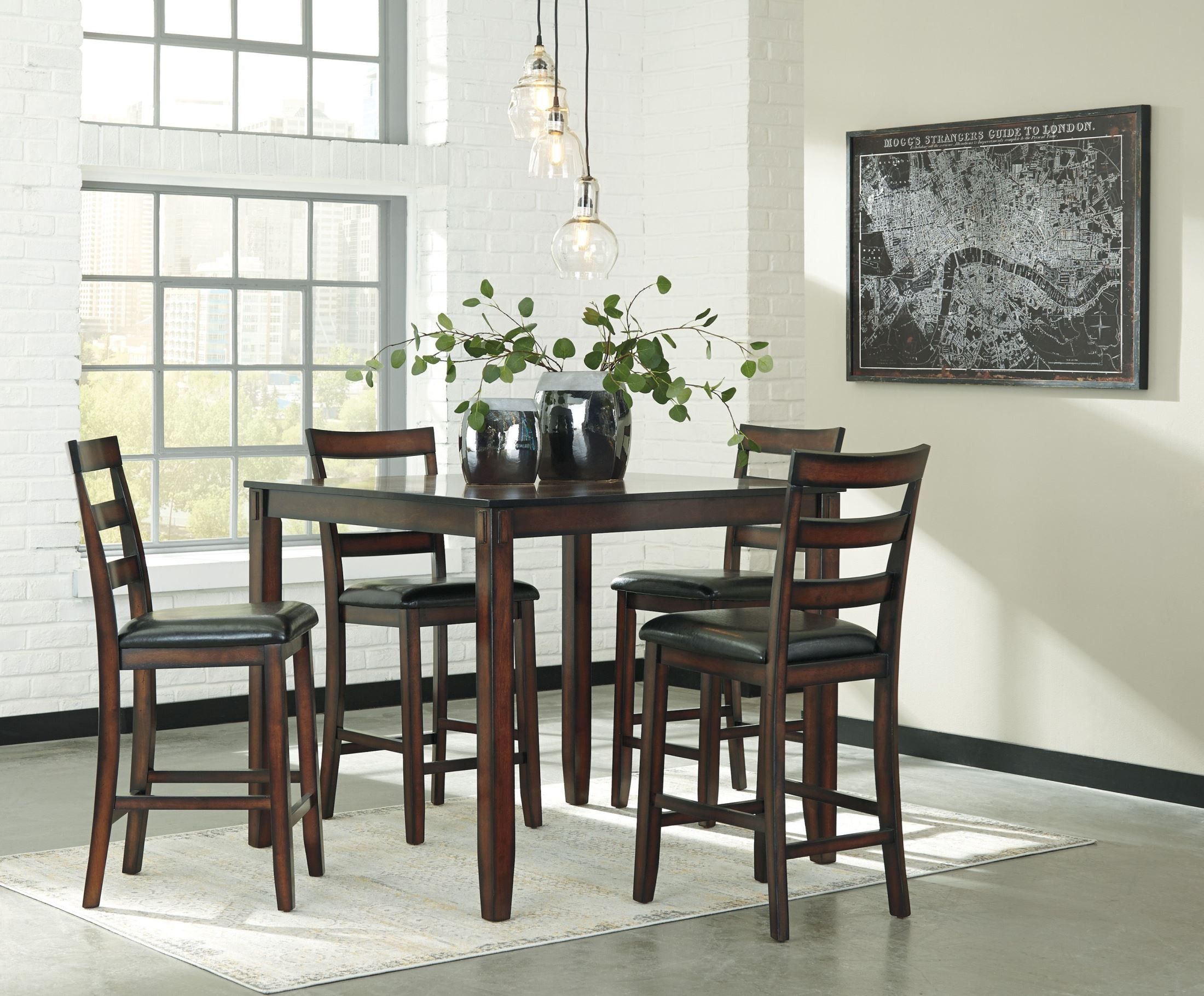 home dining room dining room sets coviar 5pc counter height dining set