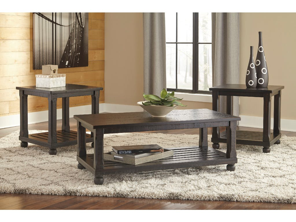Ashley Mallacar 3pc Black Coffee Table Set Dallas Tx Occasional Tables Furniture Nation