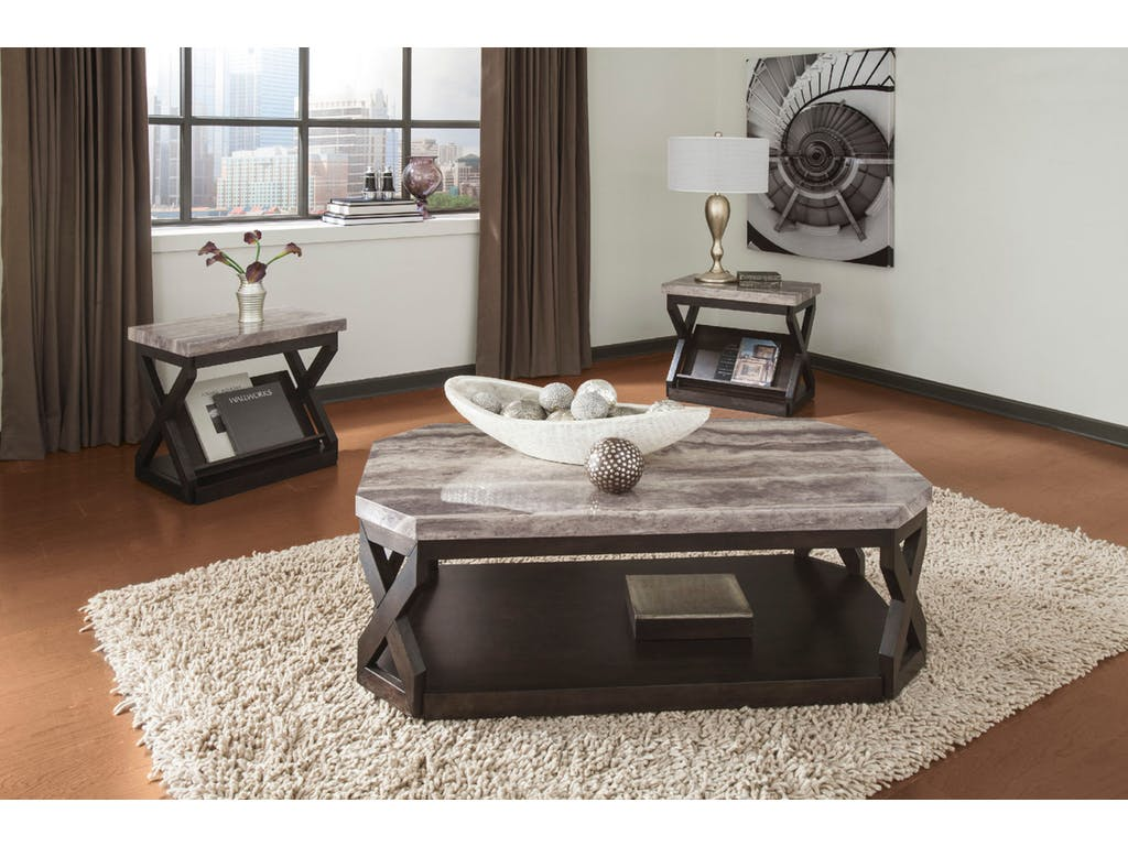 Ashley Radilyn 3pc Grayish Brown Coffee Table Set Dallas Tx Occasional Tables Furniture Nation