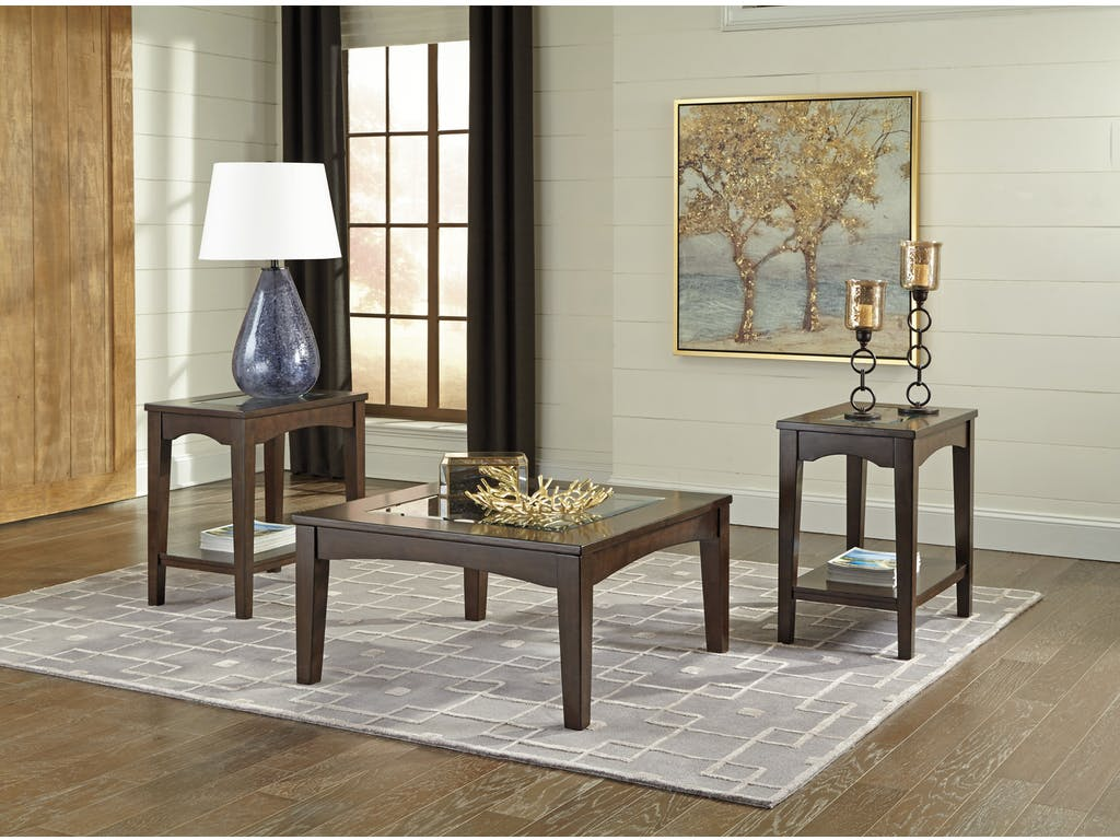 Cronnily 3pc Brown Coffee Table Set Dallas Tx Occasional Tables Furniture Nation