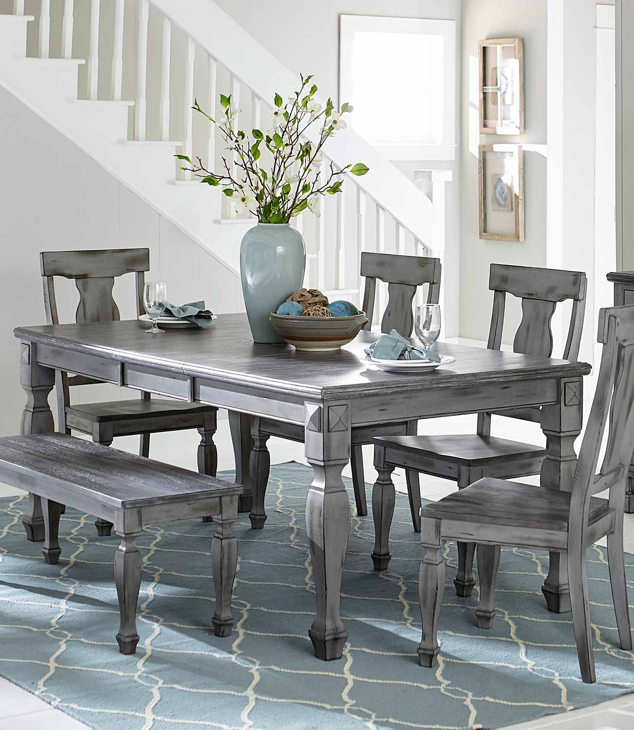 Grey Dining Room Table: Homelegance Fulbright Grey Rectangular Dining Table Dallas