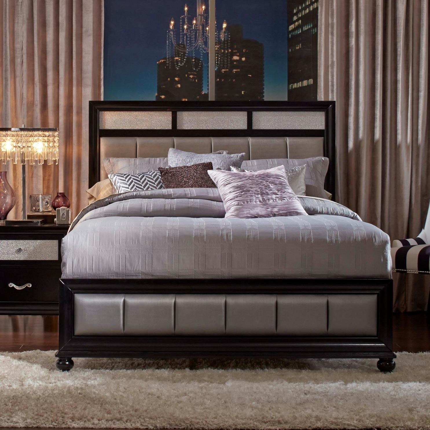 Coaster Barzini Black King Platform Bed