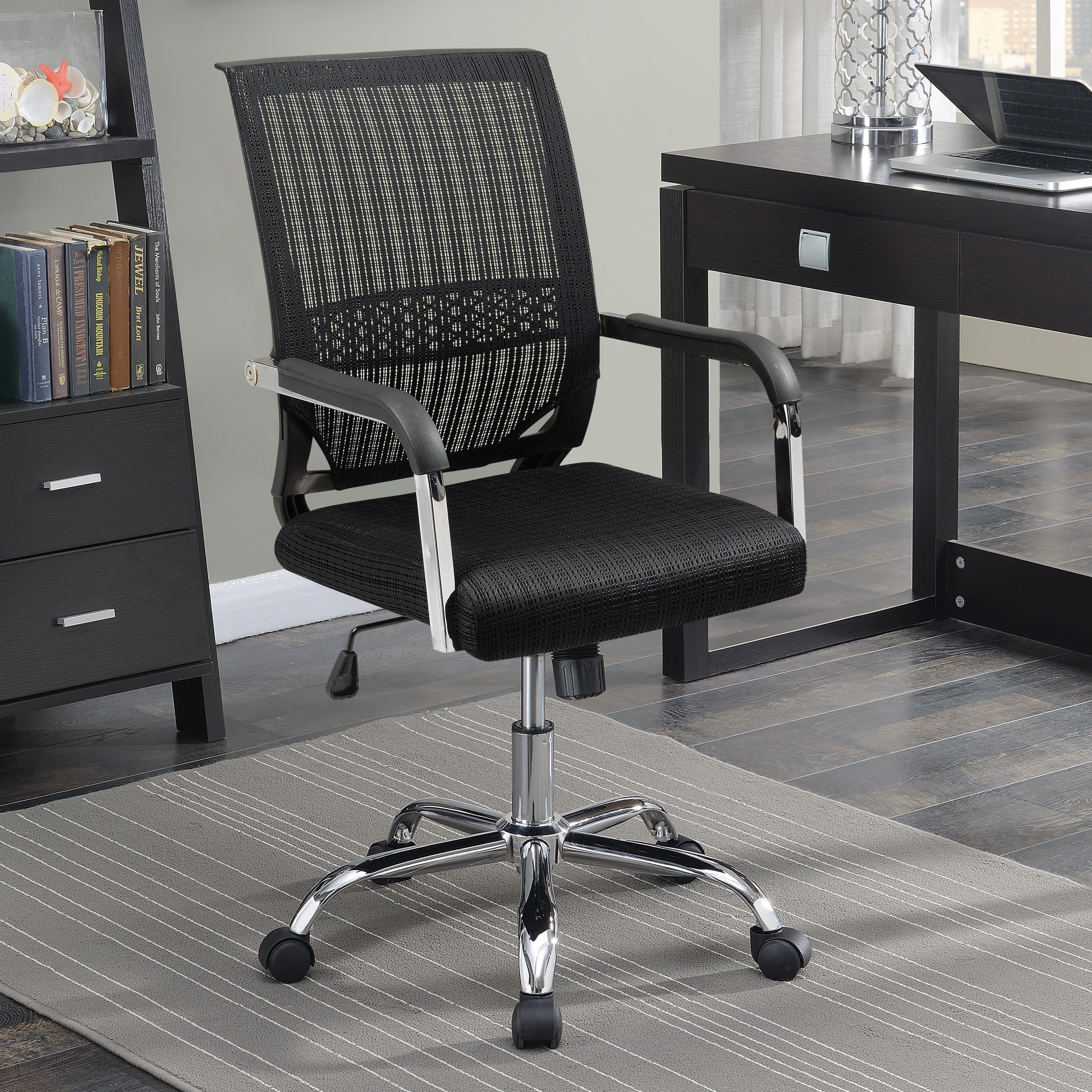 Picture of: Coaster Florance Black Fabric Office Chair Dallas Tx Office Chair Furniture Nation
