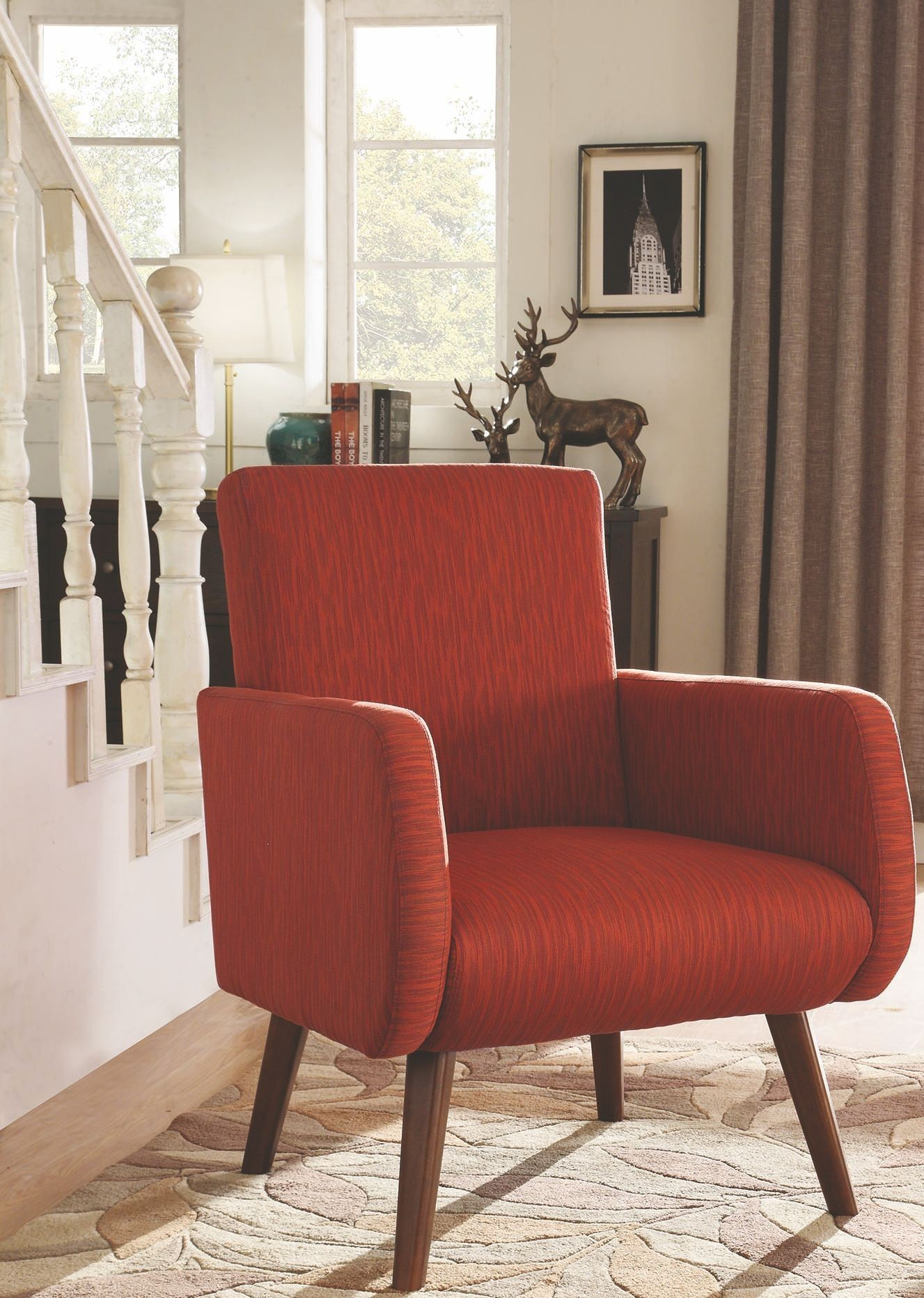 Enjoyable Coaster Gorges Orange Accent Chair Pdpeps Interior Chair Design Pdpepsorg