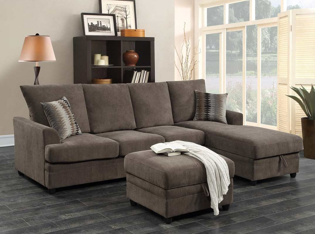 Coaster Moxie Chocolate Sofa Chaise with Sleeper : living room furniture chaise - Sectionals, Sofas & Couches
