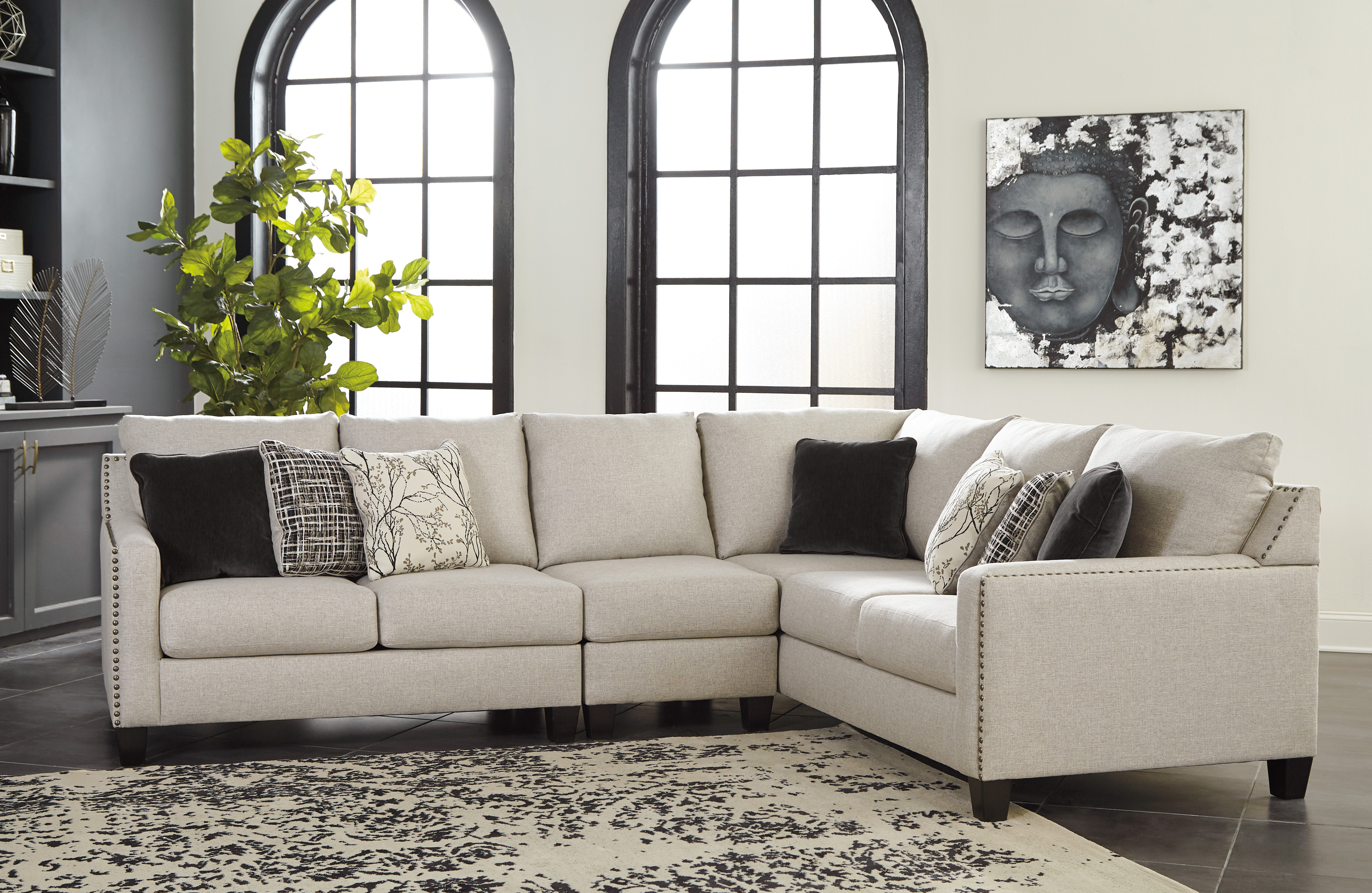 ashley hallenberg 3pc right arm facing sofa sectional