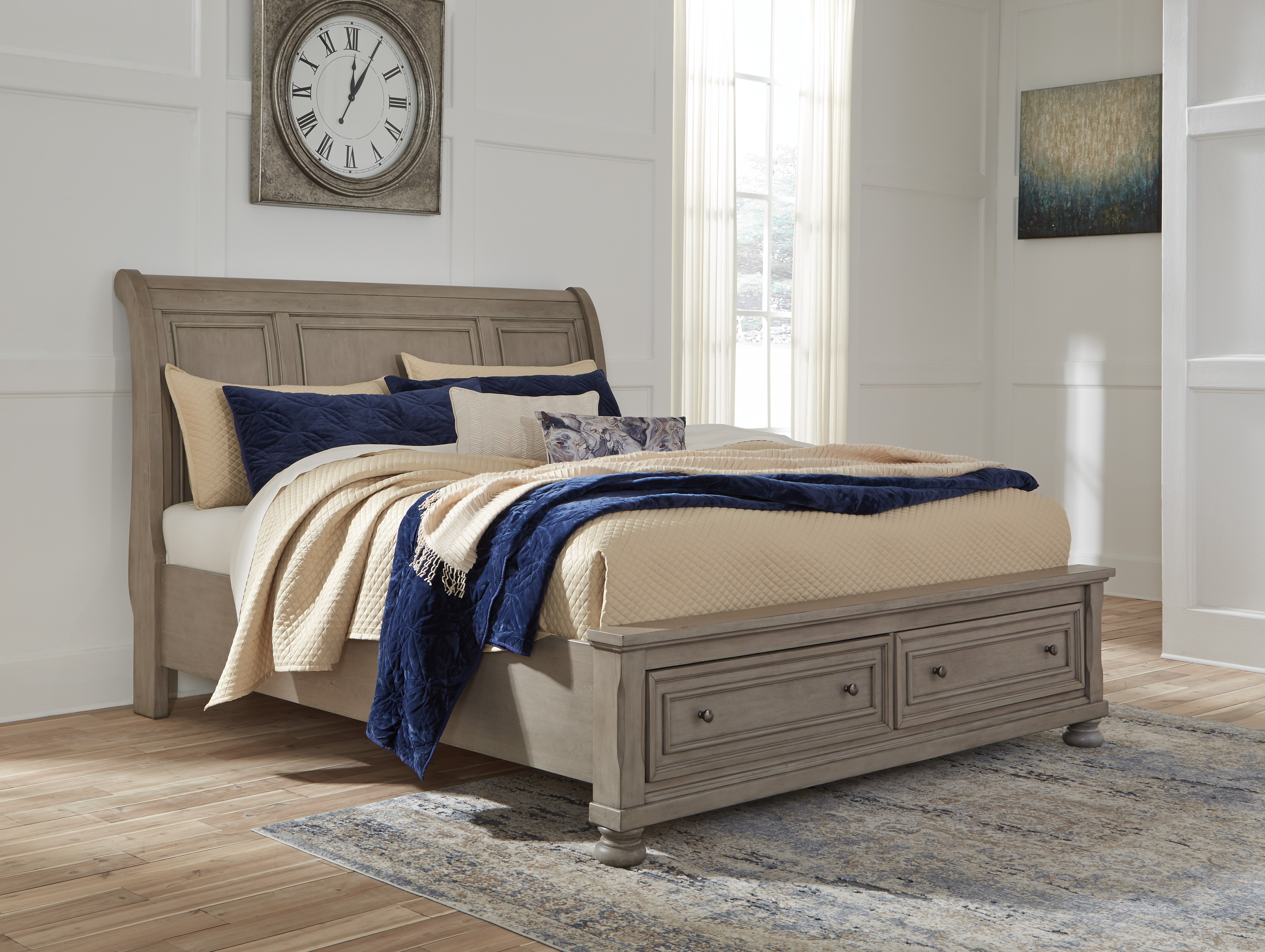 Ashley Lettner King Cal King Sleigh Bed Dallas Tx Bedroom Bed Furniture Nation