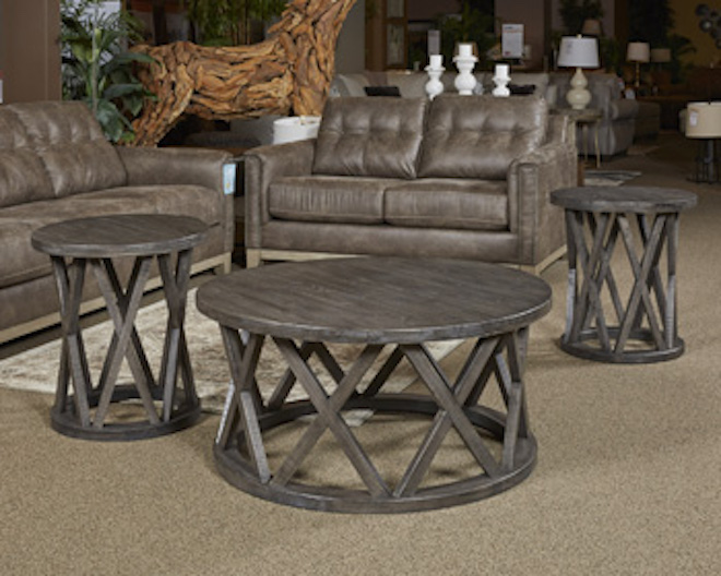 Outstanding Ashley Sharzane 3Pc Round Coffee Table Set Caraccident5 Cool Chair Designs And Ideas Caraccident5Info