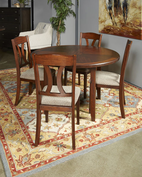 Dining Room Sets Dallas Tx: Ashley Charnalo Dark Brown Round Dining Room Set Dallas TX