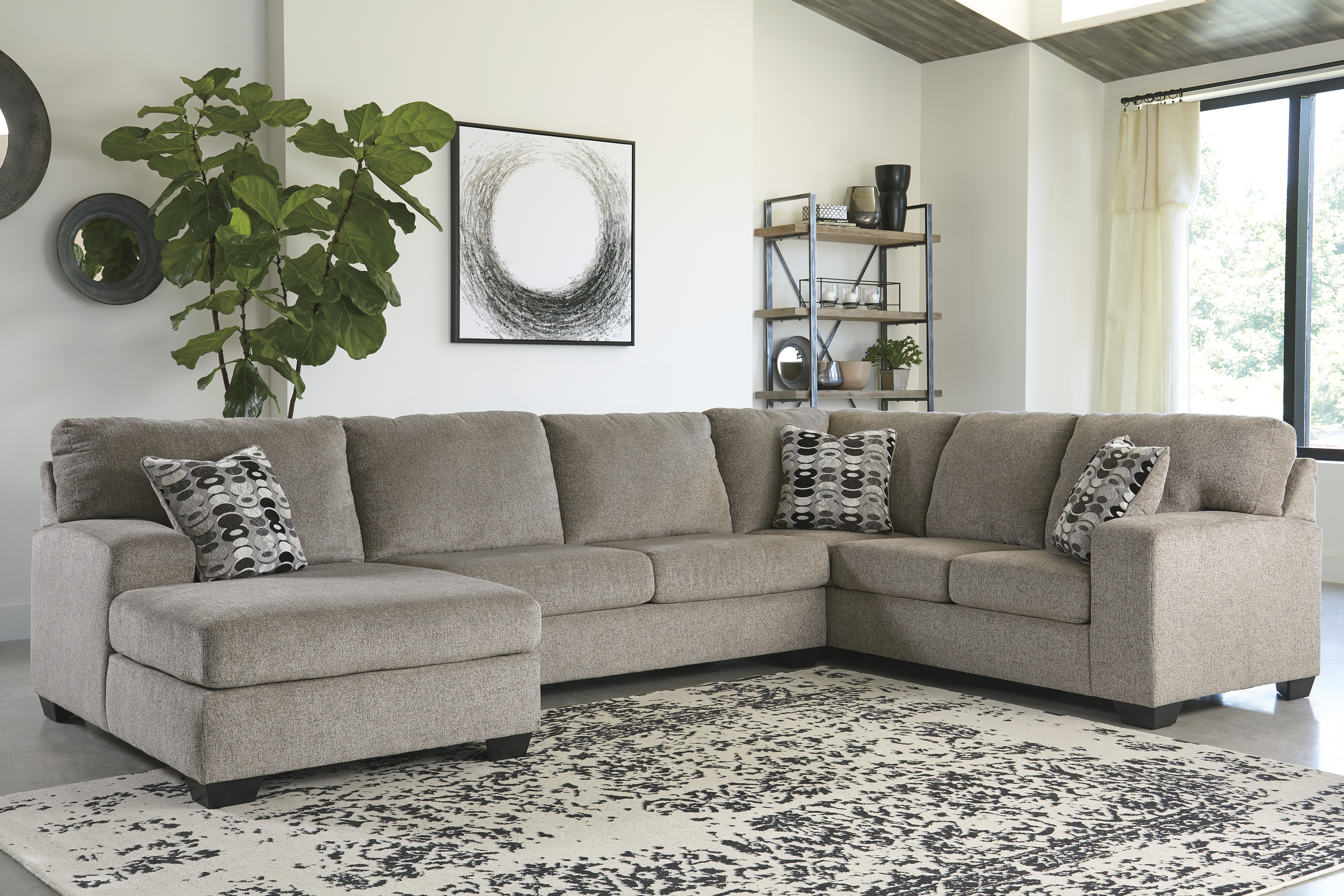 ashley ballinasloe 3pc left arm facing chaise sectional