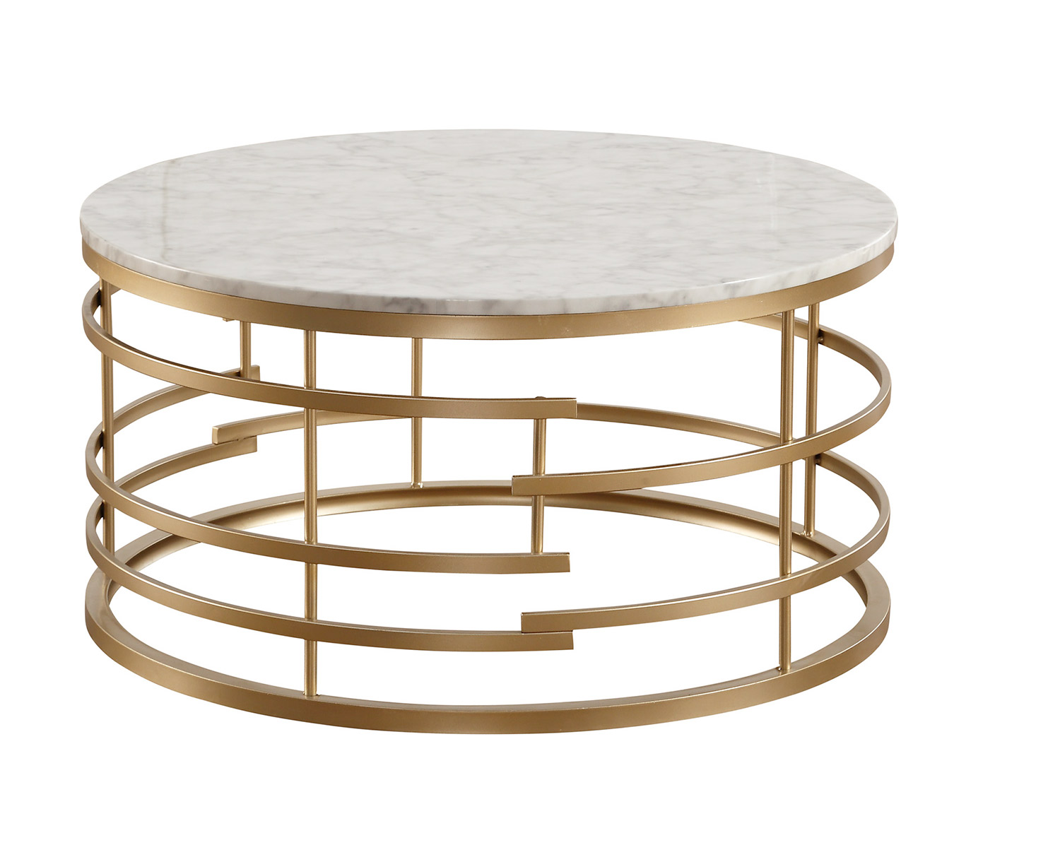 Homelegance Brassica Gold Round Coffee Table Dallas Tx