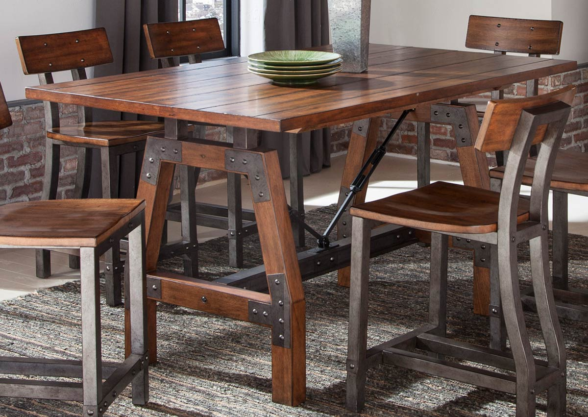Homelegance Holverson Brown Counter Height Table Dallas Tx