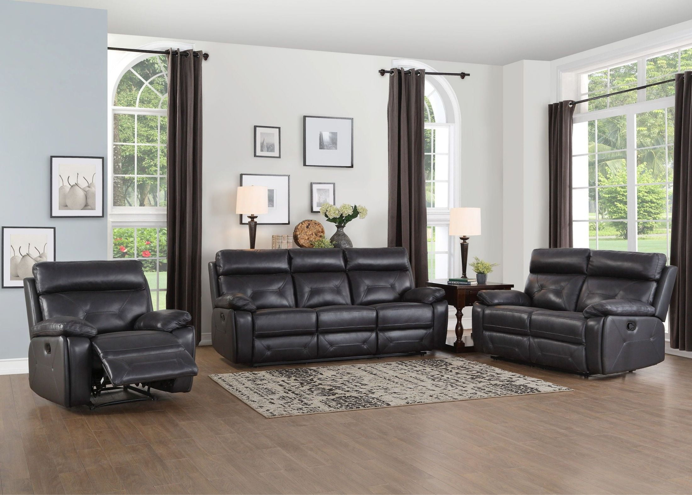 Homelegance Resonance 2pc Grey Sofa Loveseat Set