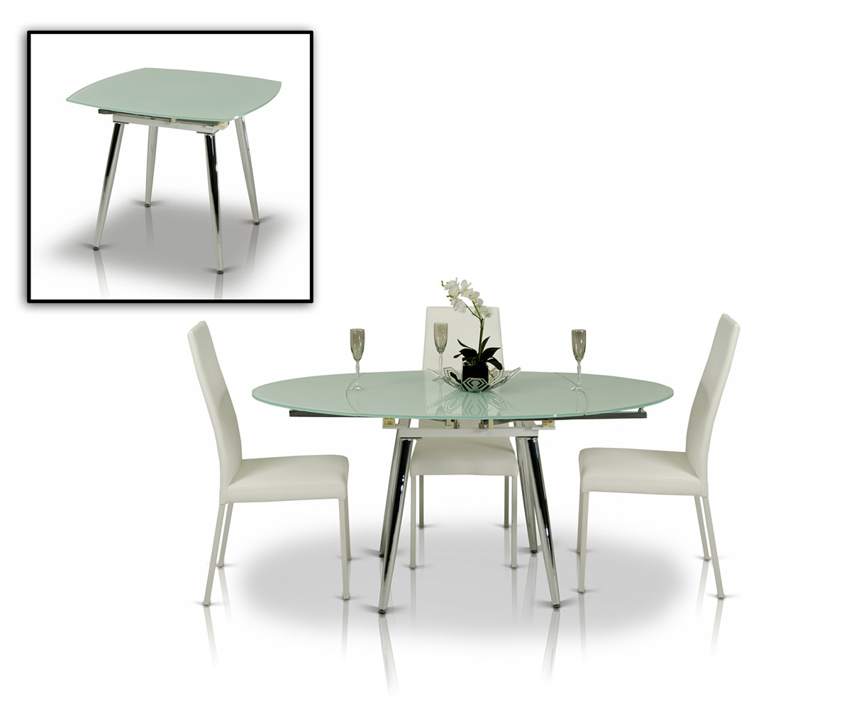 VIG Modrest Brunch White Extendable Dining Table Available Online In Dallas  Fort Worth Texas. Please Upgrade To Full Version Of Magic Zoom™
