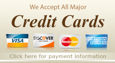 We accept all credit cards and PayPal for your furniture purchase