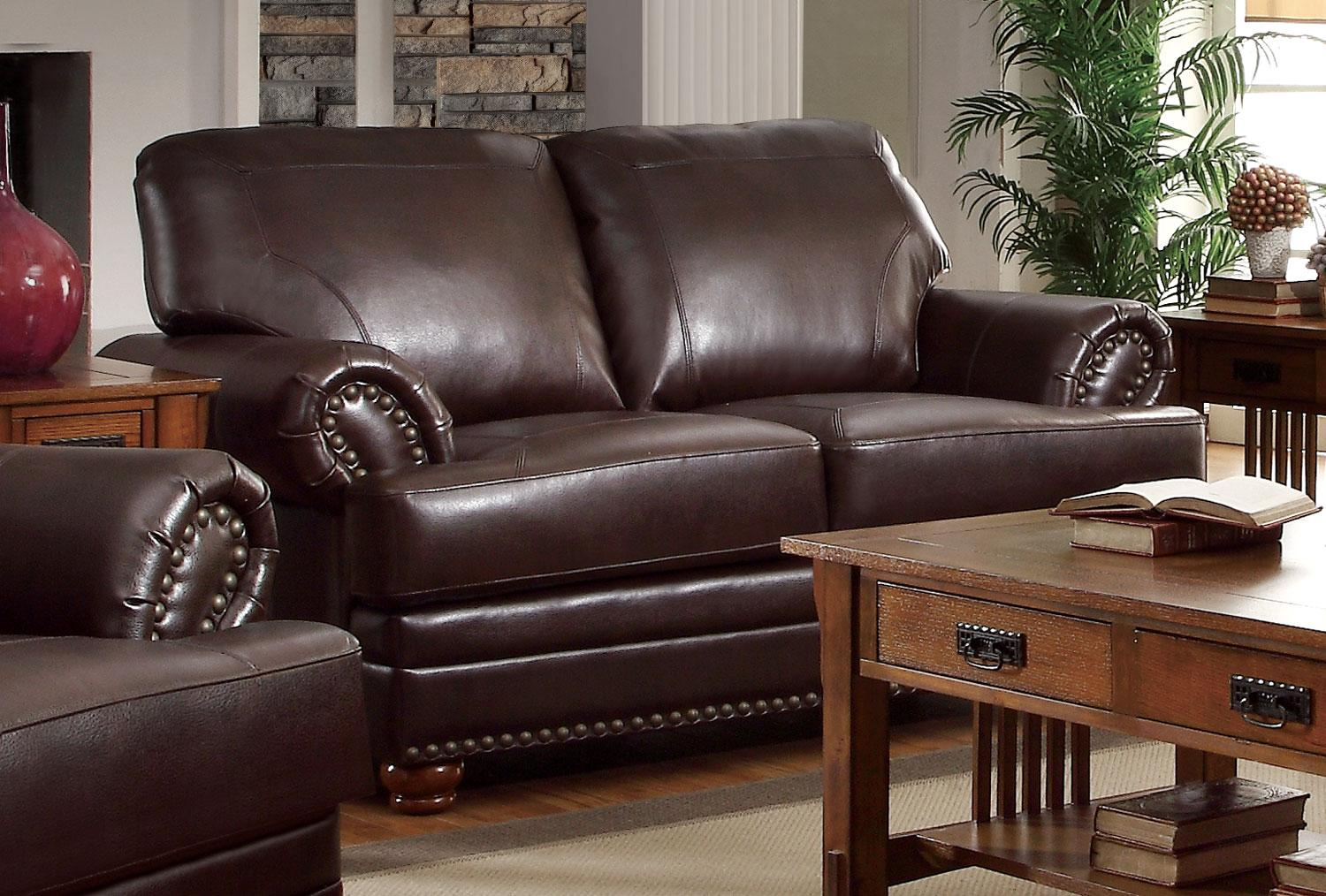 Coaster Colton Brown Loveseat Dallas Tx Living Room Loveseat Furniture Nation