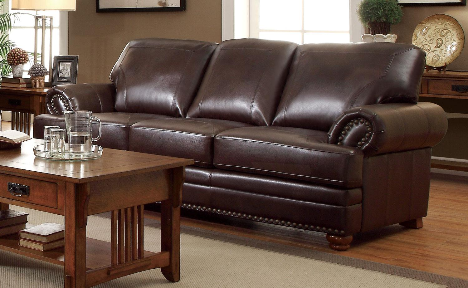 Coaster Colton Brown Sofa Dallas Tx Living Room Sofa Furniture Nation