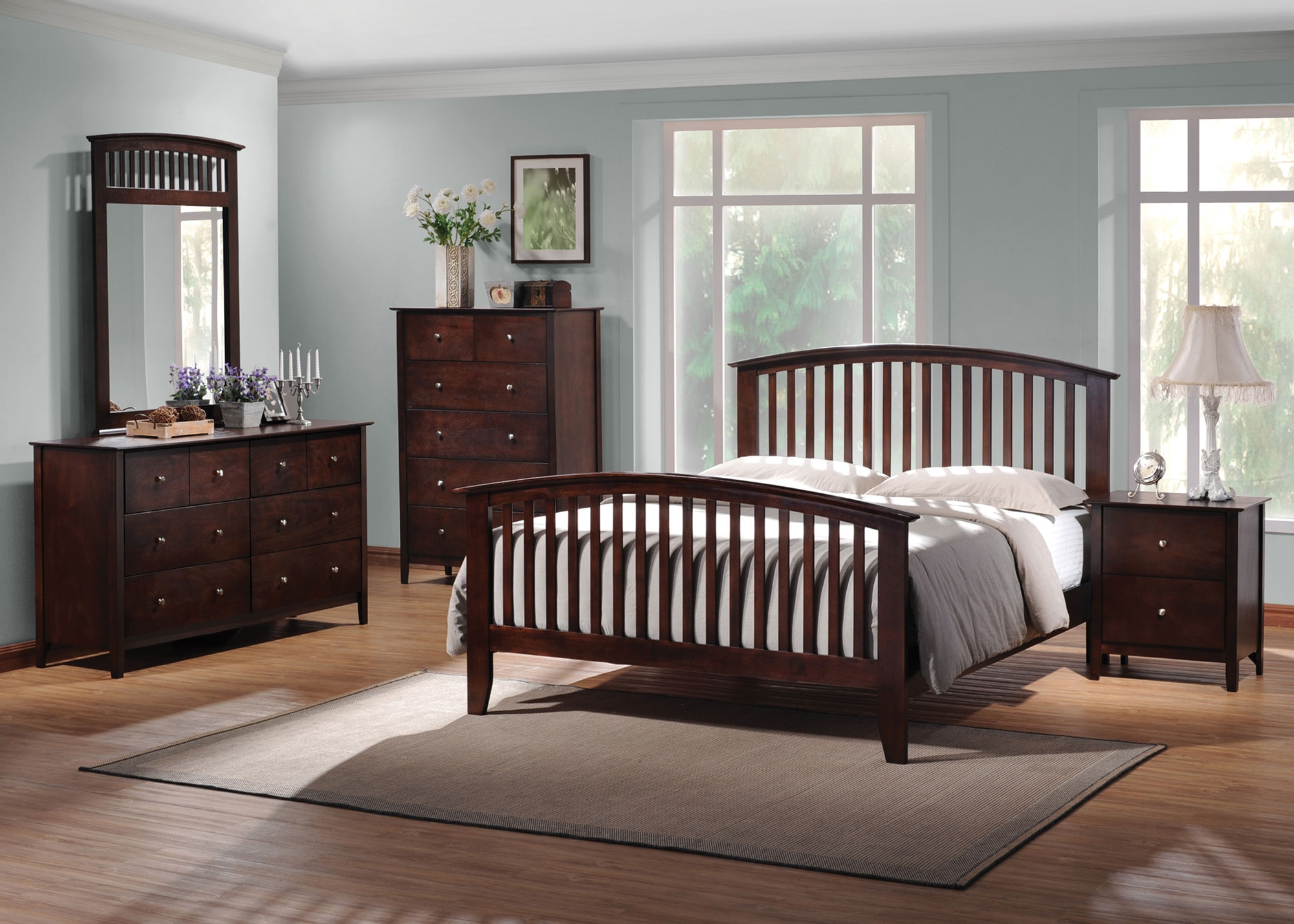 Coaster Tia Arched Queen 5pc Bedroom Set Dallas TX Bedroom Group