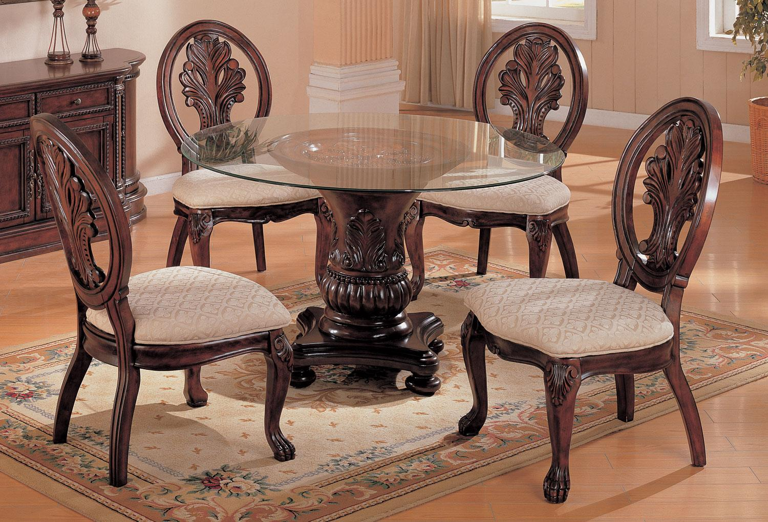 round pedestal dining room tables | Coaster Tabitha Round Pedestal Dining Table Dallas TX ...