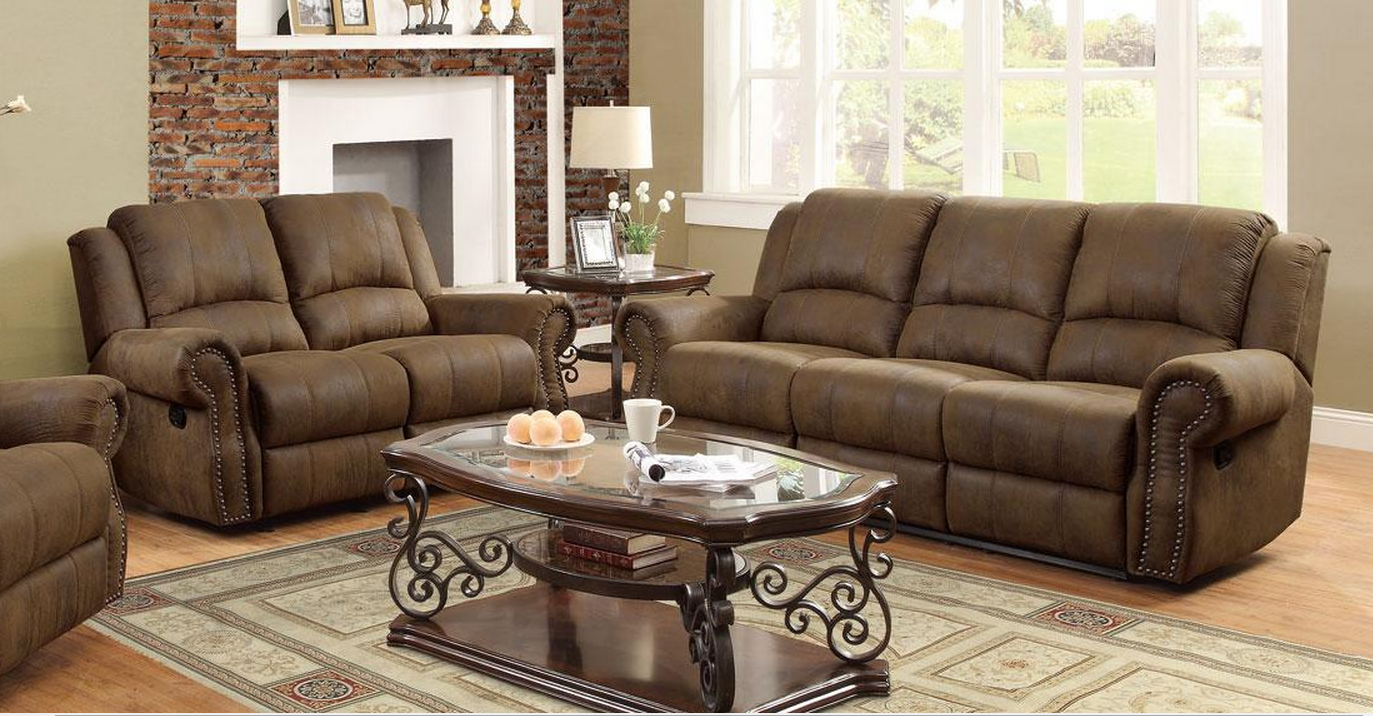 Coaster Rawlinson Reclining Sofa Loveseat Set Dallas Tx Living Room Set Furniture Nation