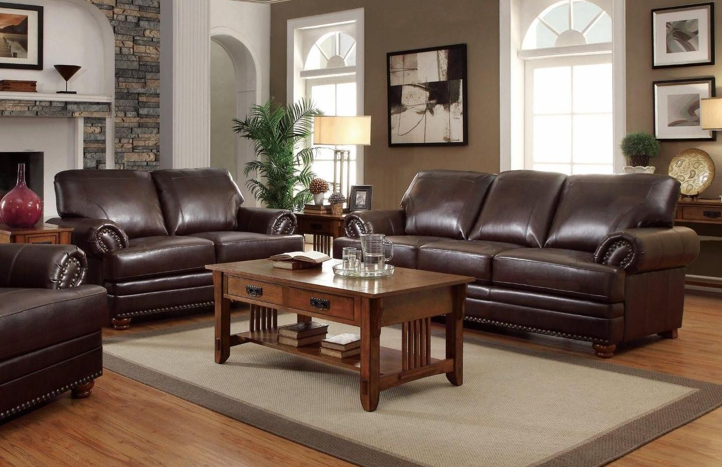 Coaster colton brown sofa loveseat set dallas tx Living room furniture dallas