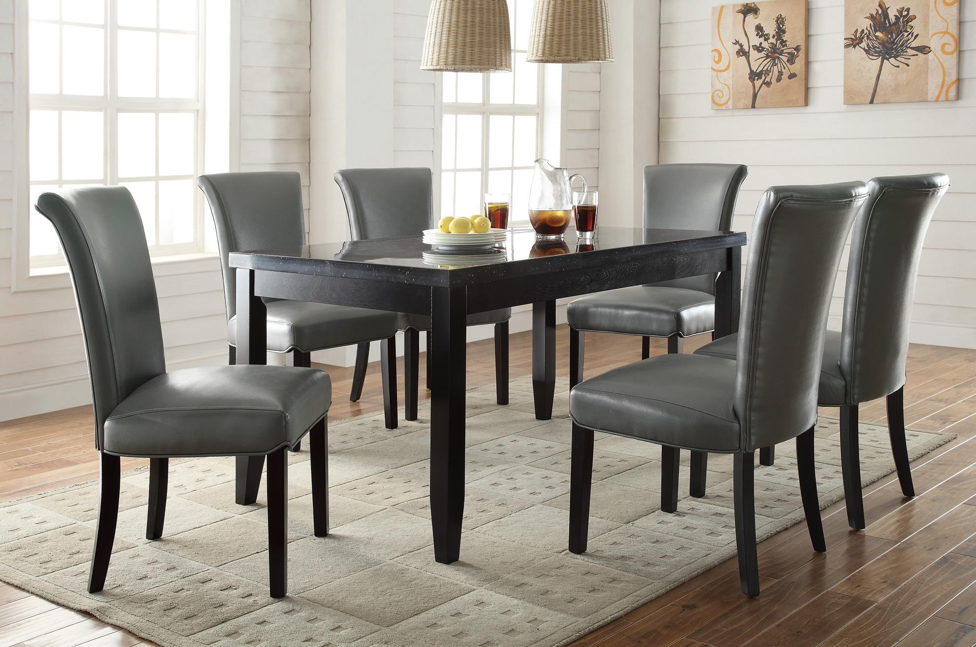 Home Dining Room Dining Room Sets Newbridge Gray 7pc Dining Room Set