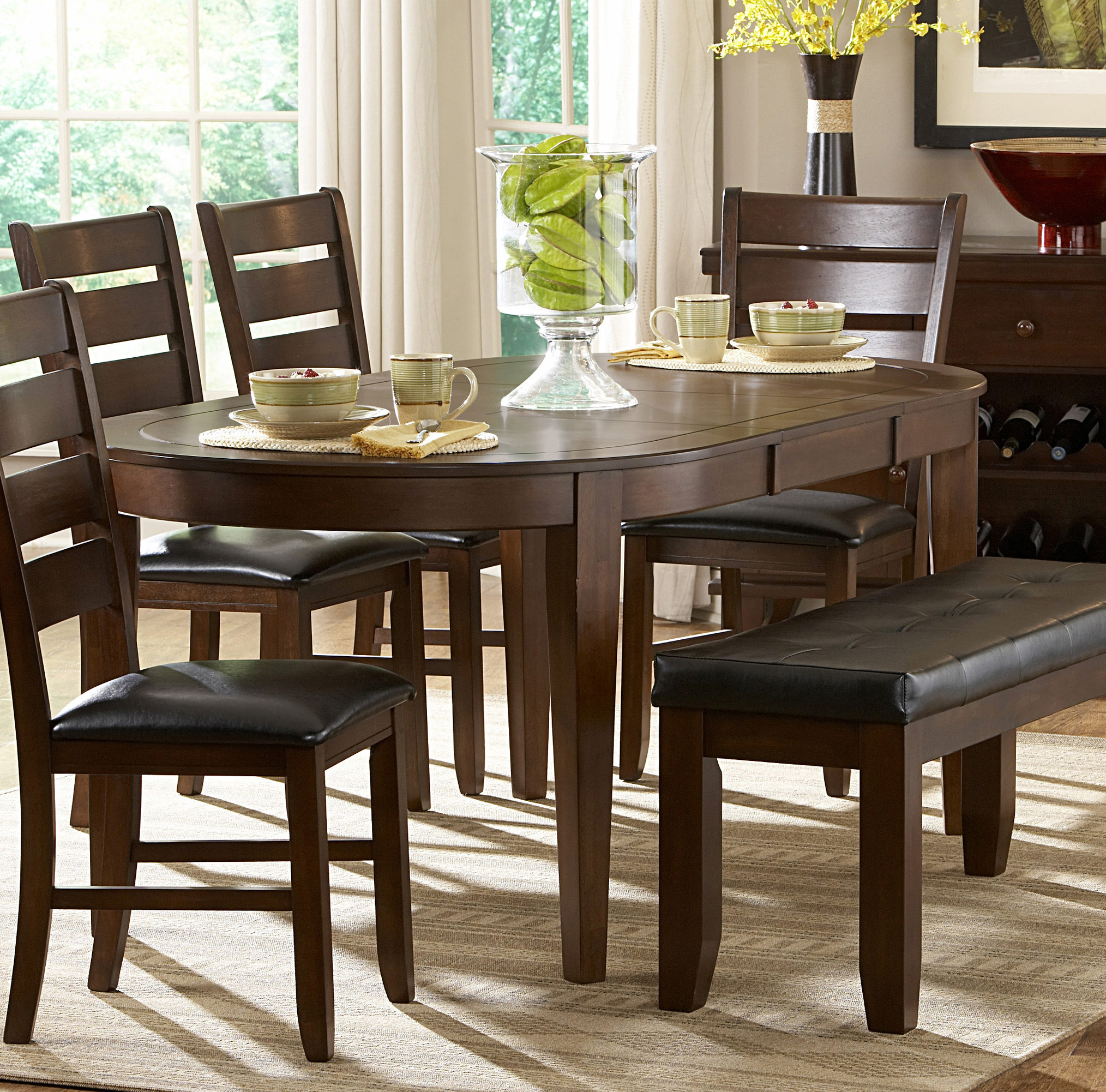 Oval Dining Room Table: Homelegance Ameillia Dark Oak Oval Dining Table Dallas TX