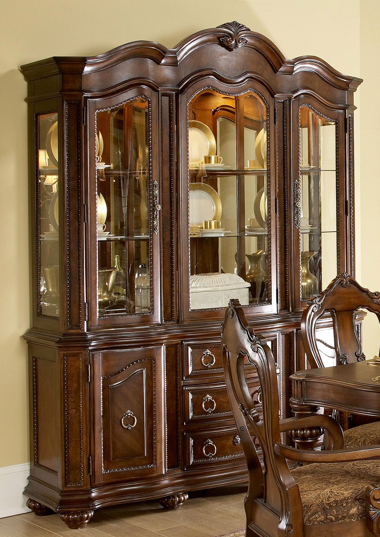 Prenzo China Buffet Hutch Dallas Tx Dining Room China
