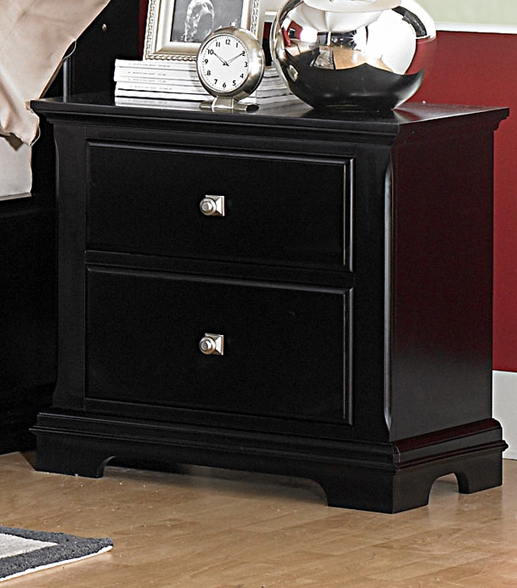 Preston Black Night Stand Dallas Tx Bedroom Night Stand