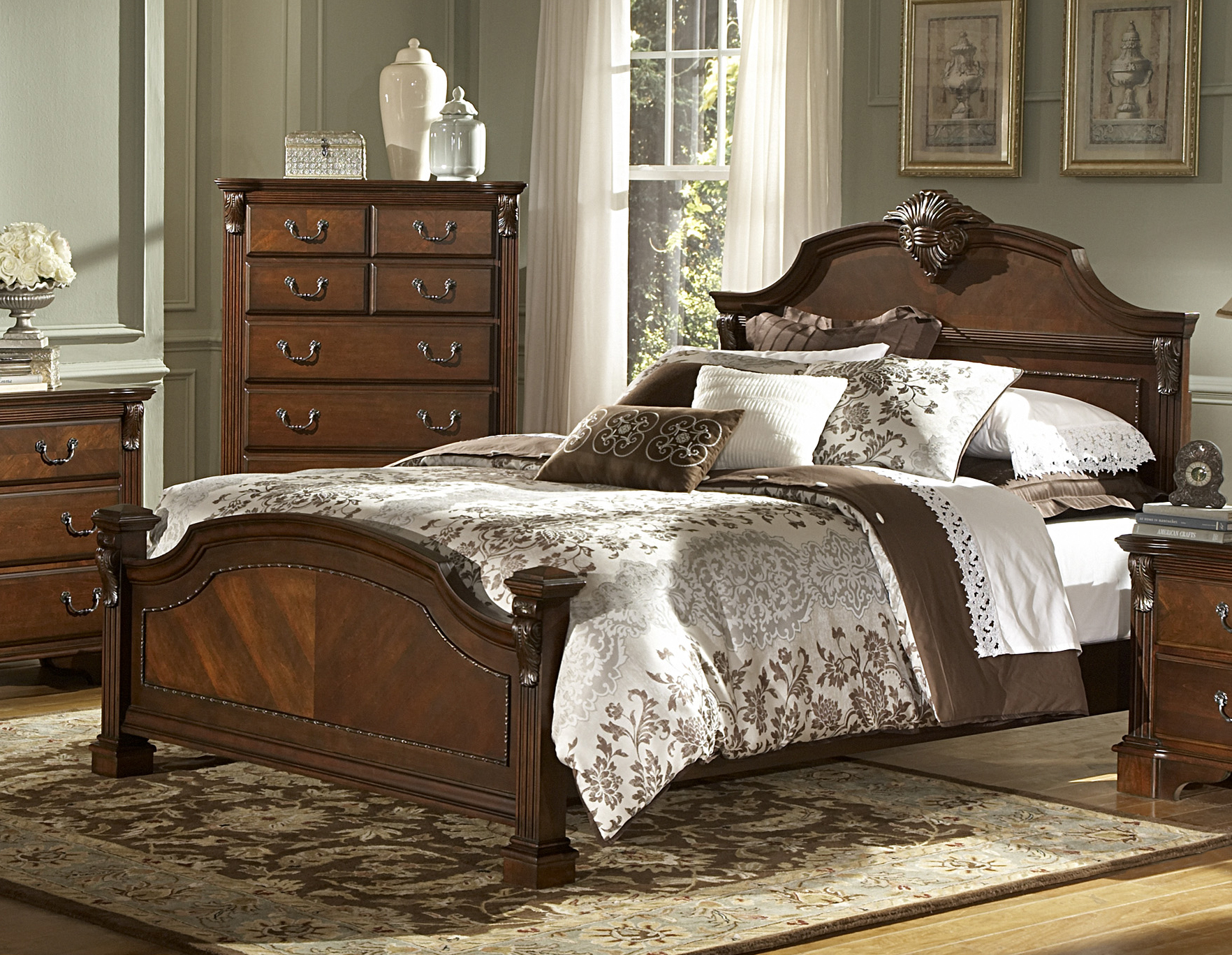 legacy cherry king bed dallas tx bedroom bed furniture