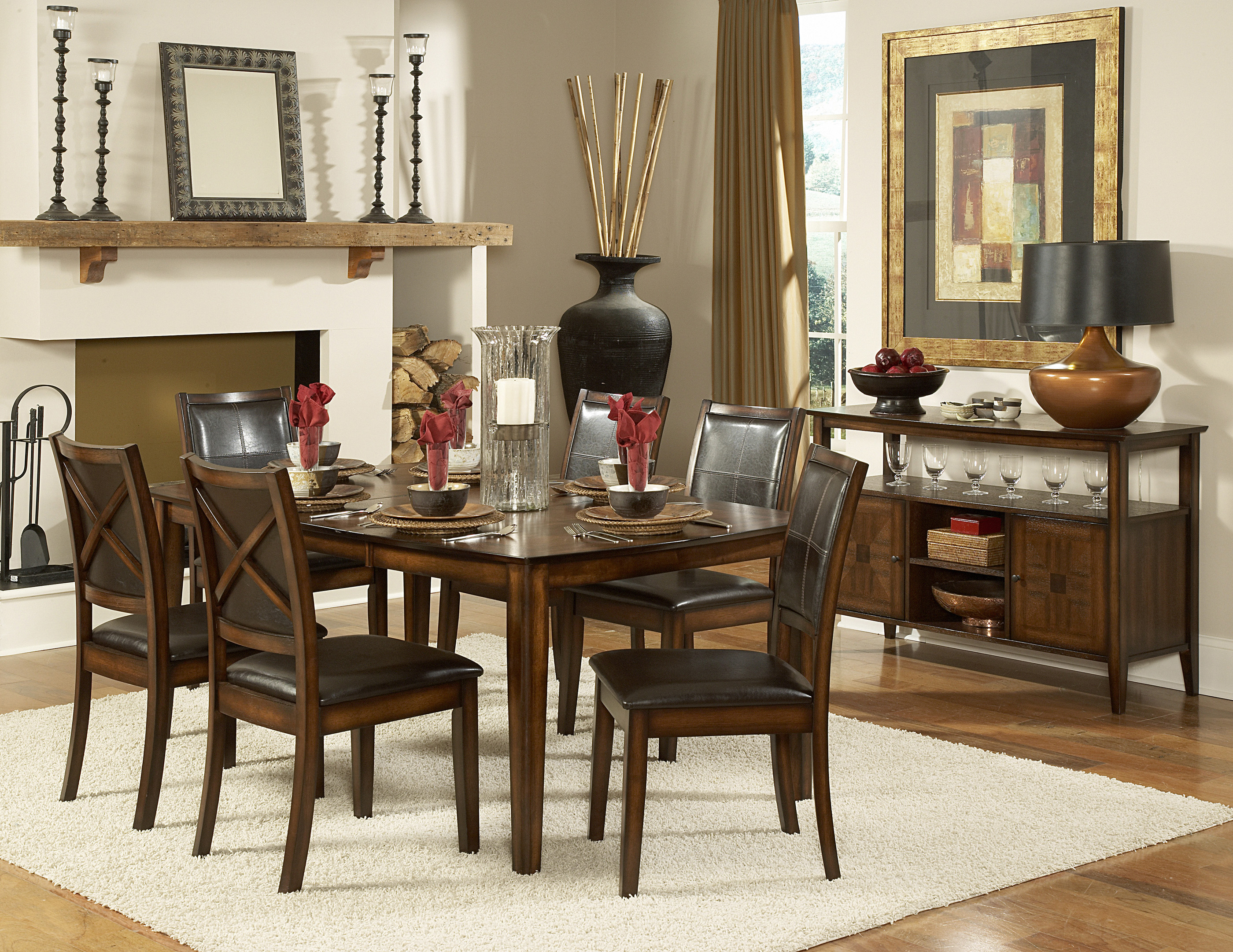 verona 7pc dining room set dallas tx | dining room sets