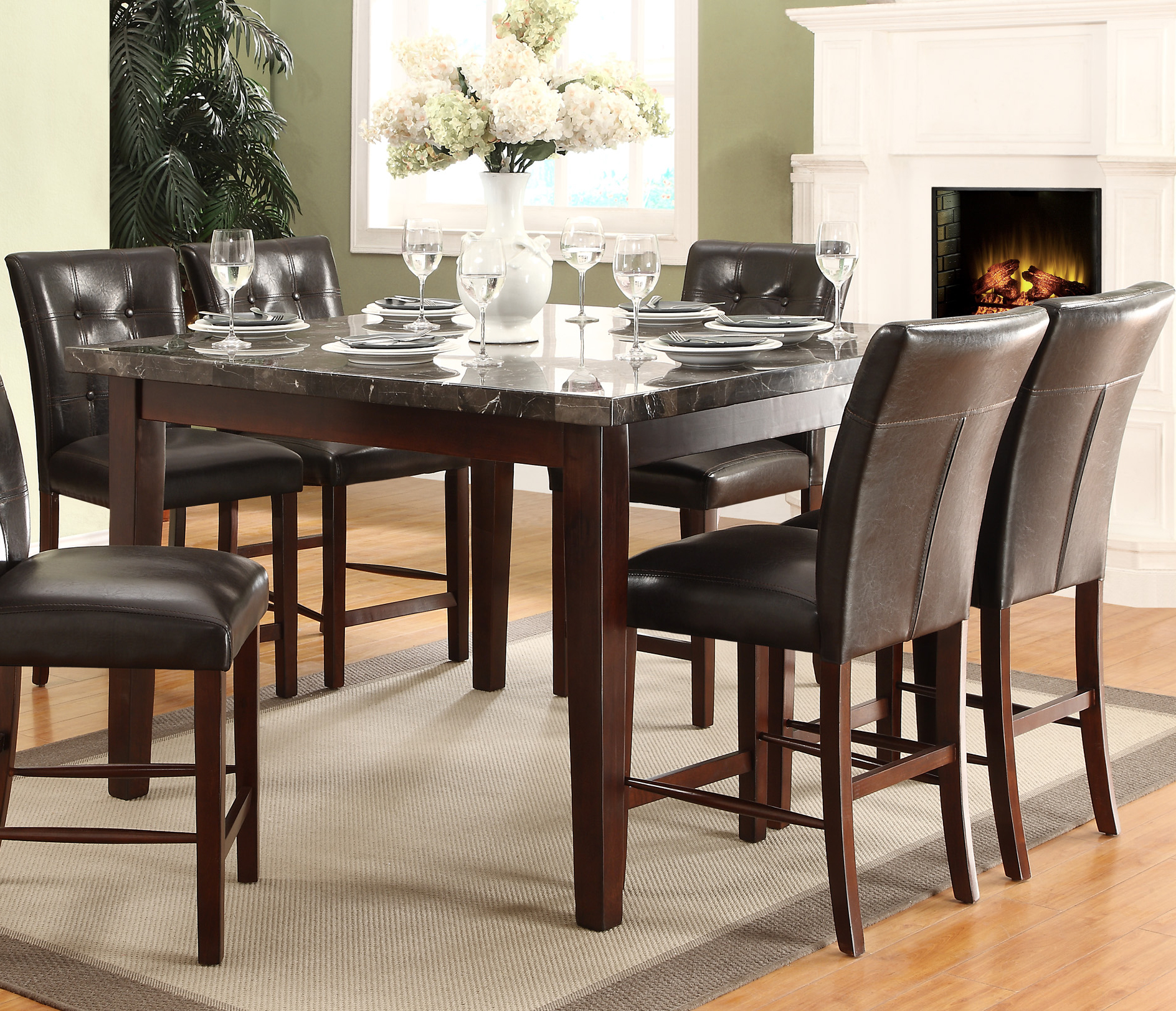 Dining Room Furniture Dallas Tx: Homelegance Decatur Counter Height Table Dallas TX