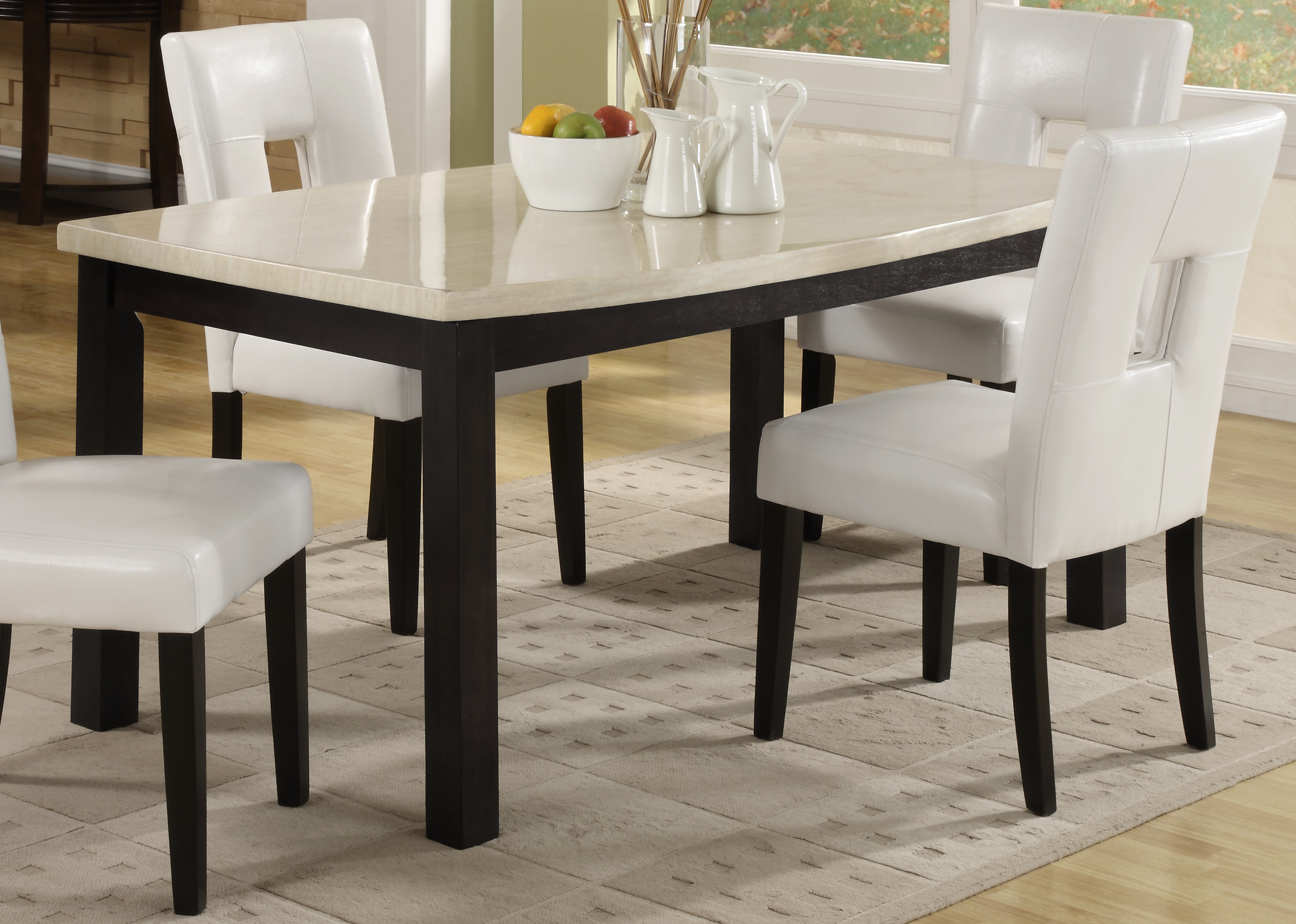 Homelegance archstone white square dining table