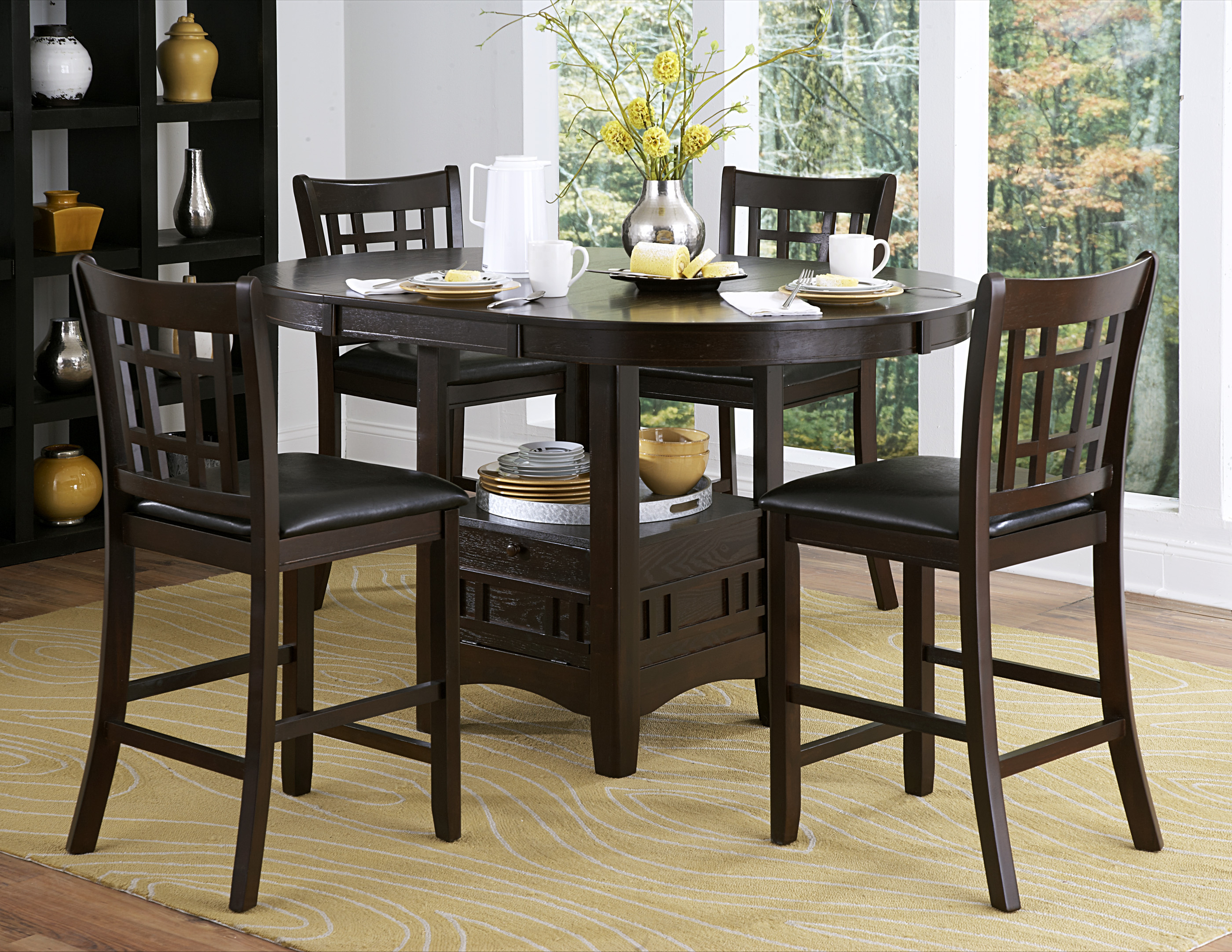 5pc counter height dining room set dallas tx dining room sets