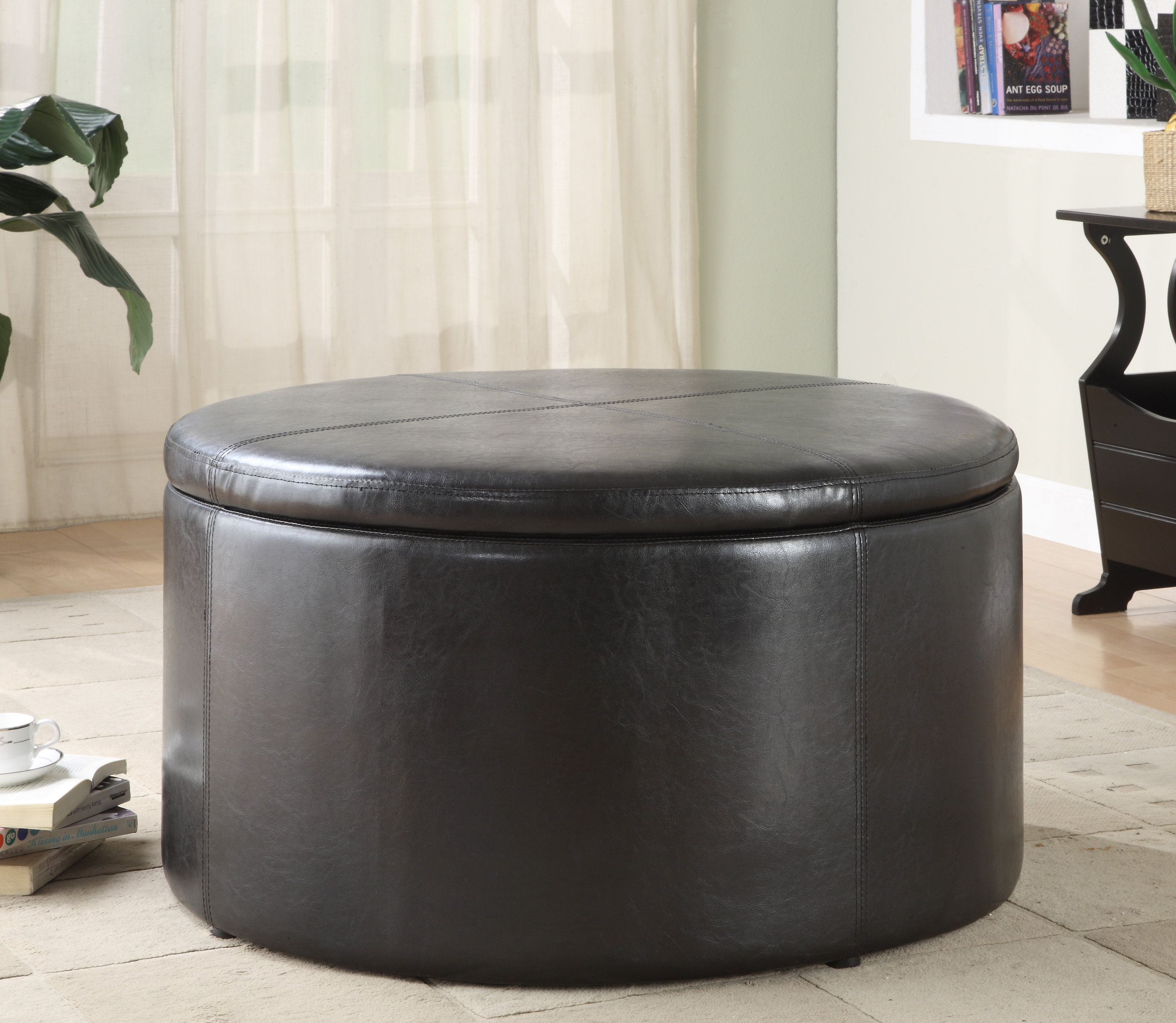 Homelegance Houston Round Storage Cocktail Table With 2